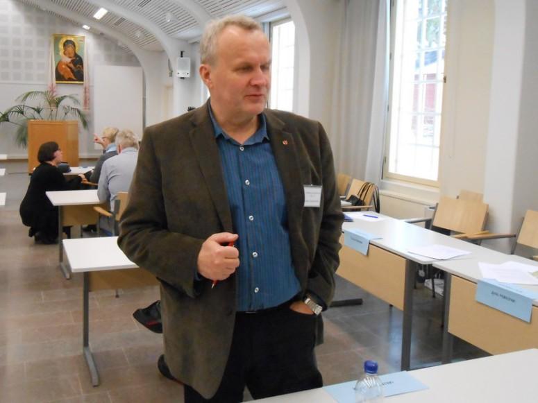 Ilomantsilainen Hannu Hoskonen on kirkolliskokousedustaja. (Photo: Aristarkos Sirviö)