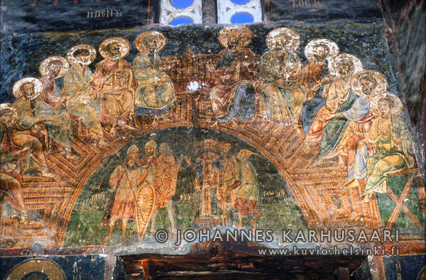 Pentikosti, Agioi Anargyroi Church, 10th c. Kastoria, Kreikka. © Foto Johannes Karhusaari 2003