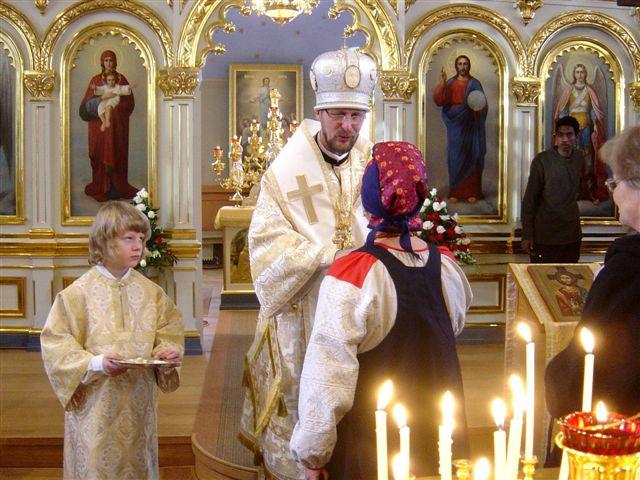 Piispa Arseni Kuopion kirkossa