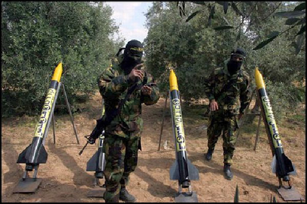 Raketteja kohti Israelia Gazasta. (Kuvalähde/photo: israeltoday.co.il )