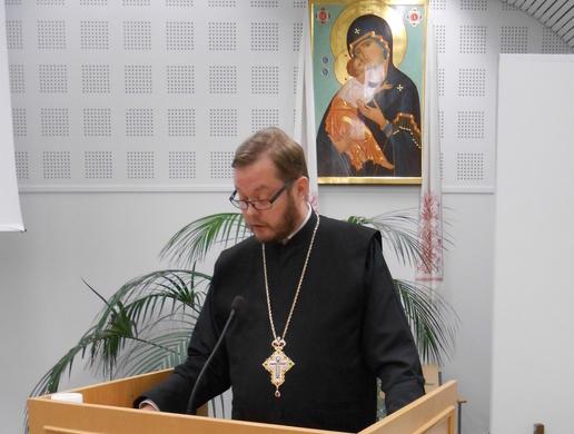 Hallinnonkehittämisen jatkotyöryhmän puheenjohtaja isä Andreas Larikka (Kuva/Photo: Aristarkos Sirviö )
