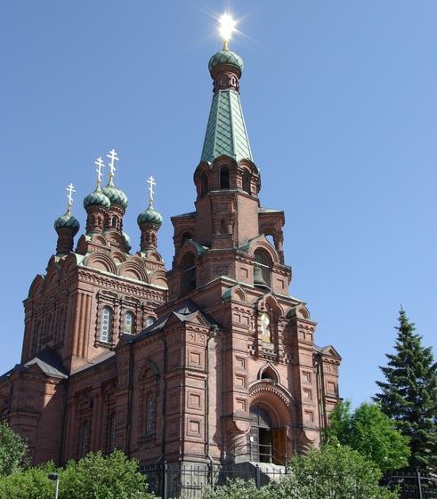 Tampereen ortodoksinen kirkko on pyhitetty Pyhille Aleksanteri Nevskille ja Nikolaokselle. (Kuva/Photo: Aristarkos Sirviö )