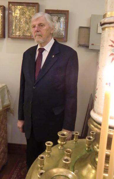 Kirkon nykyinen isännöitsijä Veikko Miikkola. ( Kuva/Photo: Hellevi Matihalti )