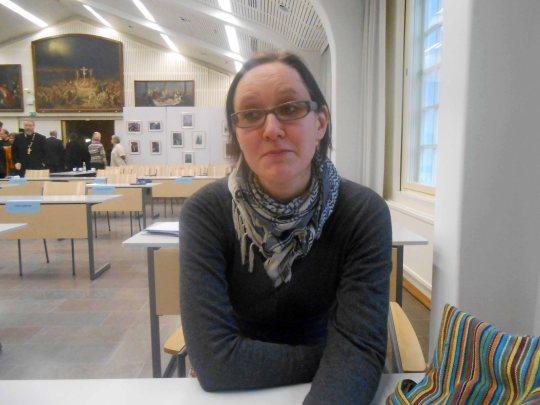 Kanttori Laura Aho on valittu kirkolliskokousedustajaksi Oulun hiippakunnasta. (Kuva/Photo: Aristarkos Sirviö )