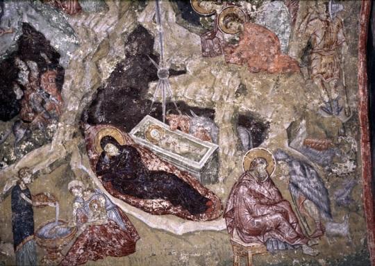 Kristuksen syntymä. 13.vs. Pec Patriarchate, Serbia/Kosovo.(Kuva/Photo: Johannes Karhusaari)