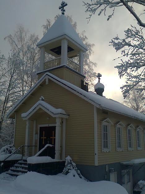 Kristuksen taivaaseenastumisen kirkko Heinolassa. (Kuva/Photo; Merja Merras )