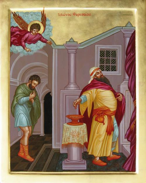 Publikaani ja fariseus. (Ikonikuva/Photo: orthodox.net)