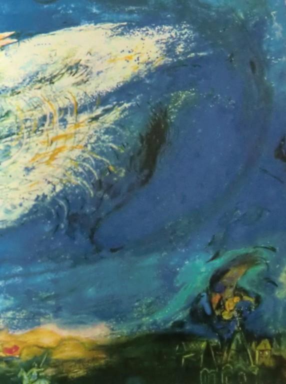 Osa Marc Chagallin teatterin esiripuksi tekemästä työstä The Firebird.