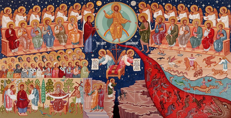 Viimeisellä tuomiolla. (Ikonokuva/Photo: Orthodox.net)