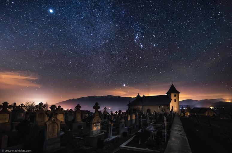 Peştera kylästä,  Brașov maakunnasta. Copyright Cezar Alexandru Machidon