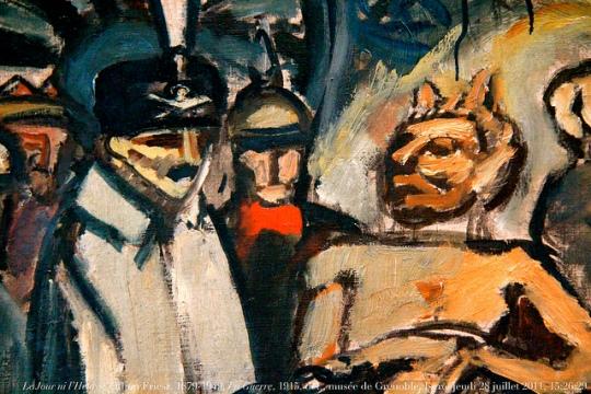 ( Kuva/Photo: Yksityiskohta Othon Frieszin maalauksesta La Guerre. Grenoblen museo. )