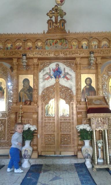 Otto Pyhien ylienkelien Mikaelin ja Gabrielin kirkossa, Voluntarissa, Bukarestissa. ( Kuva/Photo: Andra Aldea-Löppönen )