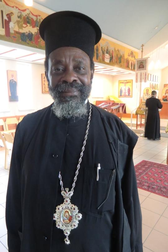 Ruandan ja Burundin piispa Innocentios Byakatonda. (Kuva/Photo: Hellevi Matihalti)