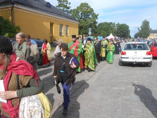 Lappeenrantaa on kokoontunut reilut 500 kirkkopäivävierasta. (Kuva/Photo: Aristarkos Sirviö)