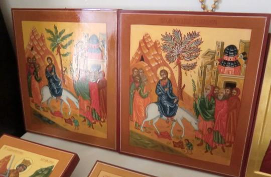 Herramme Jerusalemiin ratsastus – Kaarina Turusen ikoneita. ( Kuva/Photo: Hellevi Matihalti )