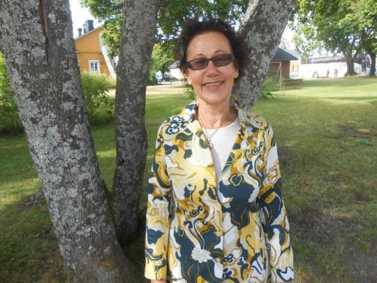 Kotkalainen Maria Hänninen koki sunnuntaisen matkan kirkkopäiville pieneksi pyhiinvaellukseksi. (Kuva/Photo: Aristarkos Sirviö)