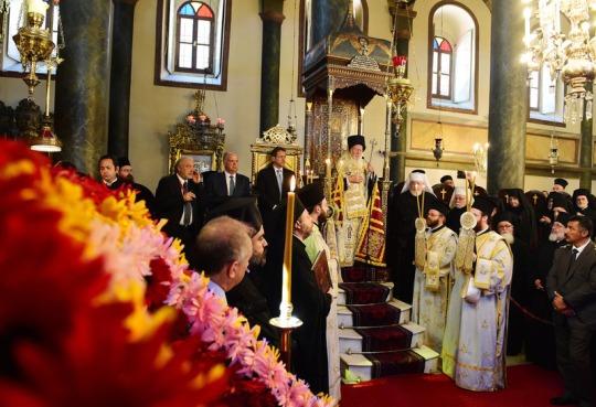 Kirkkovuoden alkamisen eli indiktion juhlan kunniaksi toimitettiin aamupalvelus ja liturgia Pyhän Georgioksen katedraalissa Ekumeenisen patriarkaatin keskuksessa. (Kuva/Photo: Dimitrios S. Panagos )