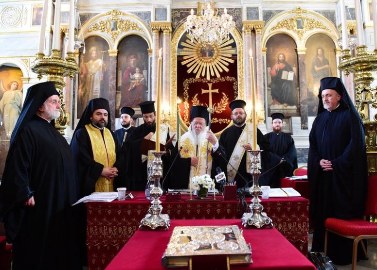 Ekumeeninen patriarkka Bartolomeos piispainkokousen avausistunnossa. ((Kuva/Photo: Dimitrios S. Panagos )