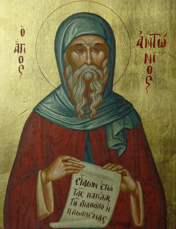 Pyhä Antonios Suuri. (Ikonikuva/Photo: orthodox.net)