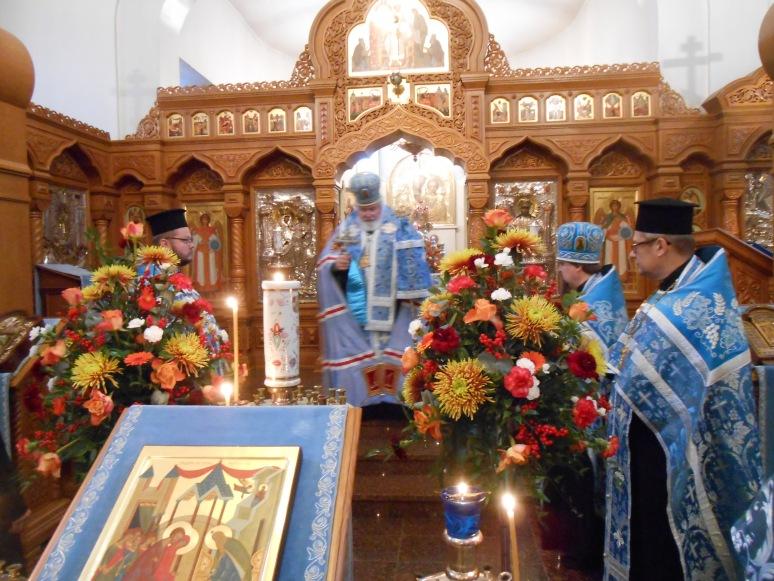 Kirkolliskokouksen jälkeen toimitettiin Valamon luostarin kirkossa kiitosrukouspalvelus arkkipiispa Leon johdolla. (Kuva/Photo: Aristarkos Sirviö)