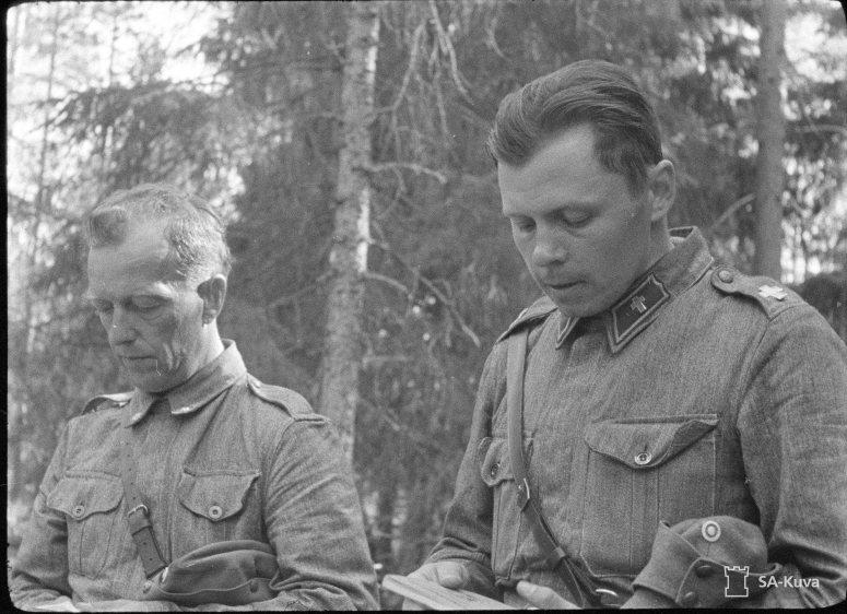 """""""Sotilaspappi 1941.07.01"""" (Kuva/Photo: SA-kuva )"""