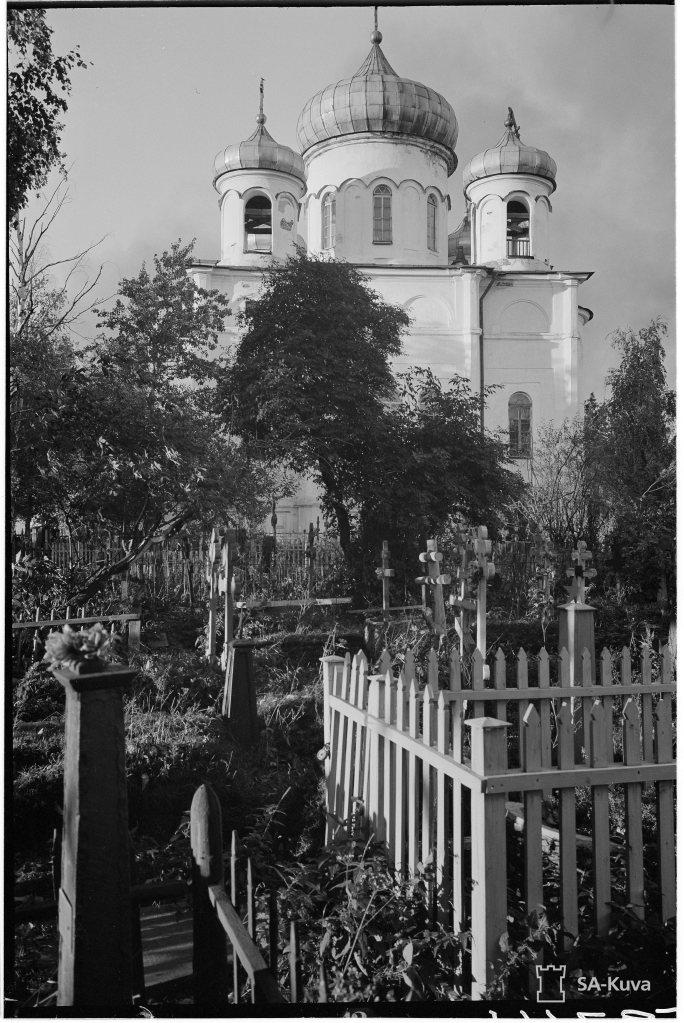 """""""Kreikkalaiskatolinen kirkko. Petroskoi 1941.10.02"""" (Kuvaa/Photo: SA-kuva )"""