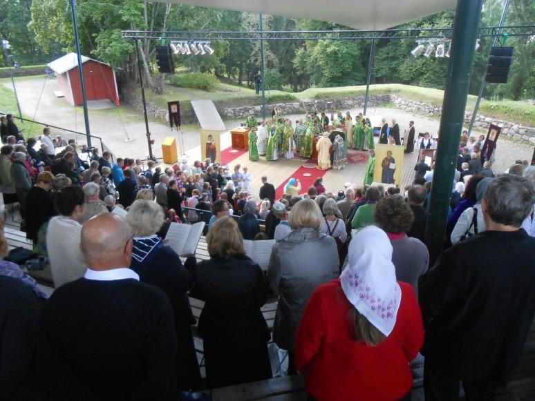 Kirkkopäiville Lappeenrantaan kesällä 2015 kokoontui viitisen sataa osallistujaa. (Kuva/Photo: Aristarkos Sirviö)