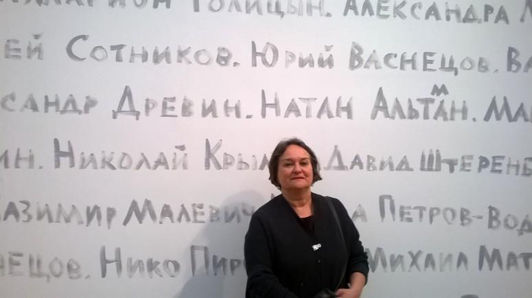 Moskovalainen nykytaiteen mestari Irina Zatulovskaja (s.1954) (Kuva/Photo: Elina Kahla)