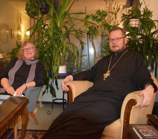 Isä Andreas oli yhdessä Mdiv Soili Penttosen kanssa ylioppilastutkintolautakunnan ortodoksisen uskonnon edustaja usean vuoden ajan. (Kuva/photo: Aristarkos Sirviö)