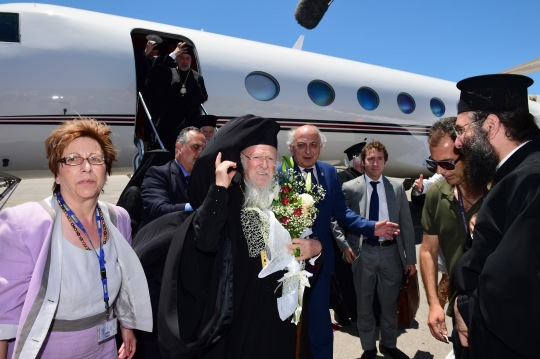 Ekumeeninen patriarkka Bartoloemos saapui Haniaan 15.6. (KUVA/PHOTO:© Dimitrios Panagos)