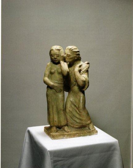 Enkelin ilmoitus (1935), kipsi. Ateneumin taidemuseo, Kansallisgalleria. Kuva: Henri Tuomi.