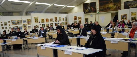 Kirkolliskokouksen täysistunto Valamon luostarin kulttuurikeskuksen salissa 2016. (Kuva/Photo: Aristarkos Sirviö )