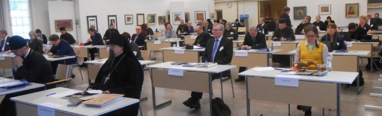 Kirkolliskokouksen täysistunto vuonna 2015 Valamon kulttuurikeskuksessa. (Kuva/Photo: Aristarkos Sirviö)