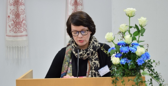Kirkolliskokouedustaja Maria Lampinen. (Kuva/photo: Aristarkos Sirviö)