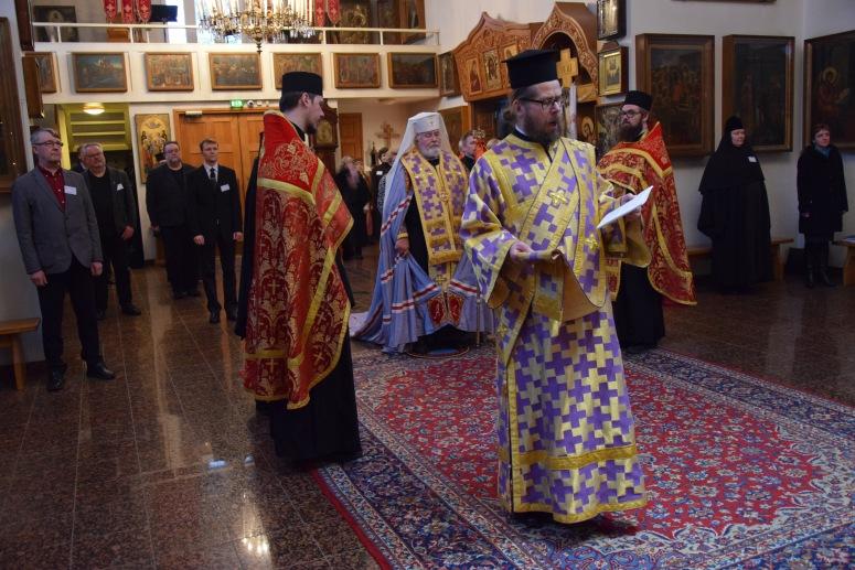 Kirkolliskokousen päätteeksi toimitettiin kiitosrukouspalvelus Valamon luostarin pääkirkossa arkkipiispa Leon johdolla. (Kuva/photo :Aristarkos Sirviö)